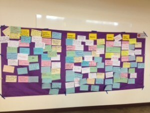 Just a sampling of the ideas from one stakeholder session.